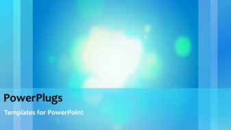 PowerPoint template displaying a short video showing an abstract of lights on a blue background - widescreen format
